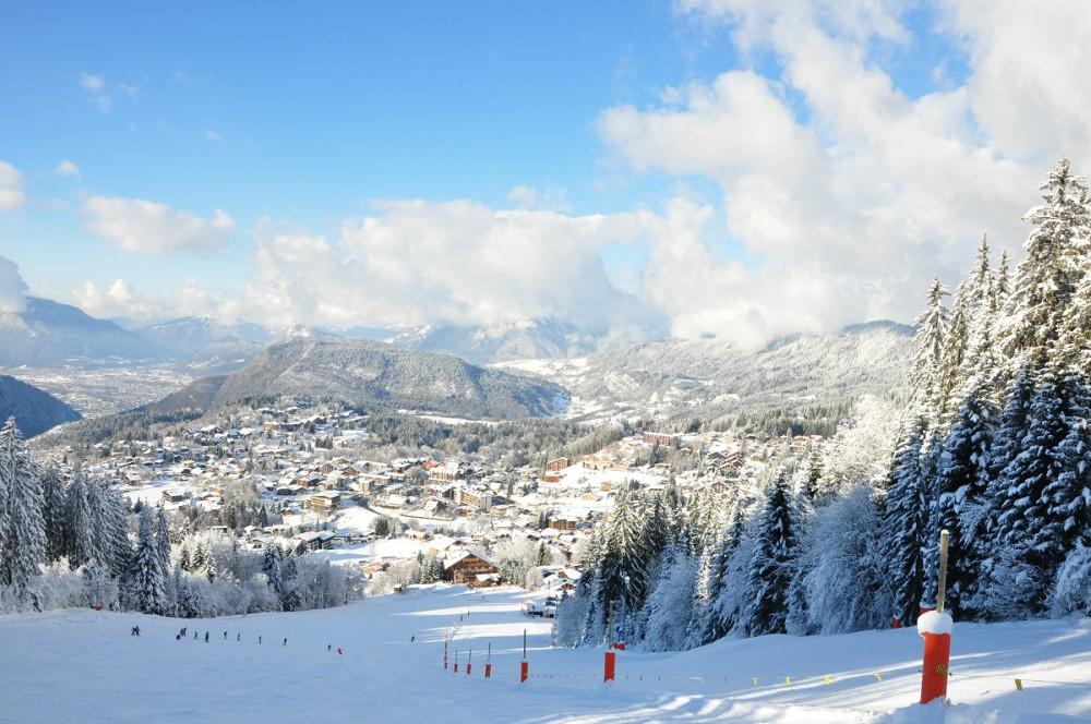 Les Carroz, ski resort of the Grand Massif ski area
