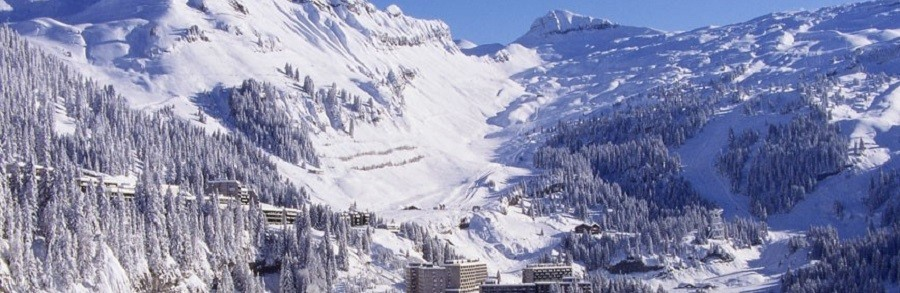 Flaine ski resort of the Grand Massif ski area