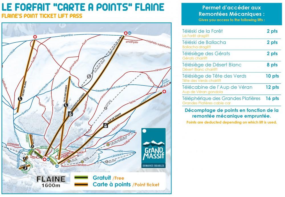 Skipasses beginner rates Flaine Grand Massif